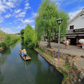 倉敷の街並みの写真